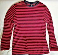 H&M Men Long Sleeves T-shirt Black & Red stripes