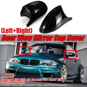 2x M1 Style Door Mirror Cover Caps Black For BMW E81 E82 E88 & E87 Facelifted