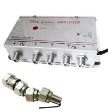 Amplificatore TV 4 out uscite antenna sdoppiatore televisione decoder AV in 1