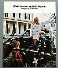 "ORIGINAL 1970 CHEVROLET WAGONS SALES BROCHURE ~ 16 PAGES ~ 9"" X 11"" ~ 70CW"