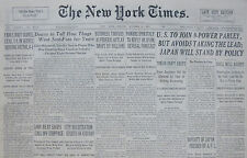 10-1937 October 8 U.S. TO JOIN 9-POWER PARLEY BUT AVOIDS TAKING THE LEAD, JAPAN