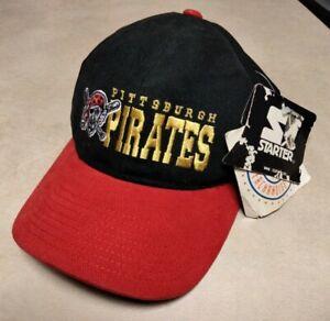 VTG 90s MLB Baseball adjustable Pittsburgh Pirates Starter Cap Hat details