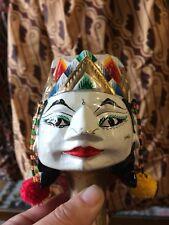 Vintage Wayang Doll Indonesian Wood Puppet Golek Asian Javanese Sinta 1980s Old