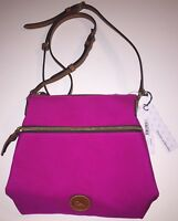 Dooney & Bourke Crossbody Bag Zipper Hot Pink Fuschia Purse Nylon Swingpack NWT