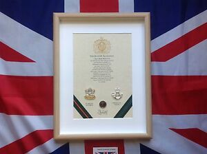Oath Of Allegiance Amalgamated (framed with Cap Badges)