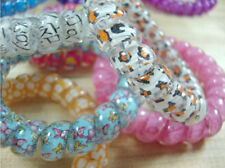 Hot Selling 10XGirl Elastic Rubber Hair Ties Band Rope Ponytail Holder Spiral RS