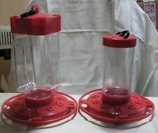 """First Nature 9"""" and 7"""" Hummingbird Feeders - New-w/o Tags"""