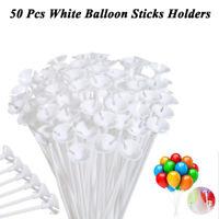 50Pcs 32cm Plastikballon-Stock-Halter-Schalen für Geburtstagsfeier-Dekoration