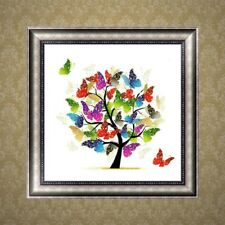 DIY 5D Diamond Embroidery Butterfly Tree Painting Cross Stitch Craft Home Decor