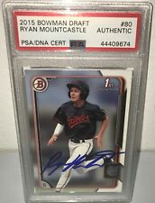 Ryan Mountcastle O's 2015 1st Year Bowman Draft Signed Autographed Card PSA/DNA