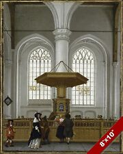 INTERIOR OF GROTE OF SINT-LAURENSKERK PAINTING CHRISTIAN CHURCH ART CANVAS PRINT