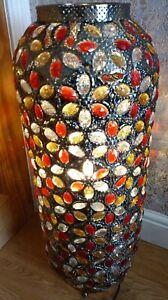 Tall Moroccan Floor Jewelled Lantern Light . Tall floor lamp 68 cms