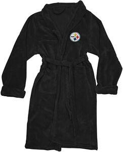 NEW NFL Football Pittsburgh Steelers L/XL Bathrobe Lounge Sleep Robe Super Soft