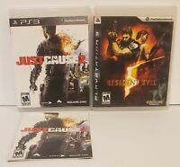Naughty Bear Just Cause 2 & resident evil game lot playstation 3 sony tested