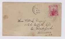1899 Paia Maui Hawaii, to East Rockford Illinois, Honolulu Transit