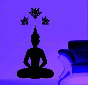 Buddha Lotus Gautama Shakyamuni Decorative Vinyl Wall Sticker Decal Yoga Studio