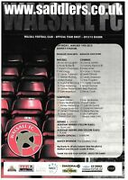 Teamsheet - Walsall v Bournemouth 2012/13