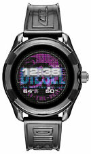 Diesel On Fadelite 44mm Aluminum Case with Silicone Strap Smart Watch - Black...