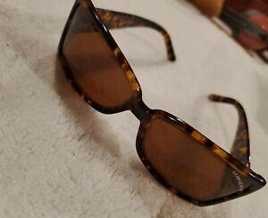 UMBRO Silverdale Sunglasses Brown Tortoise shellRectangle Lens maui jim case