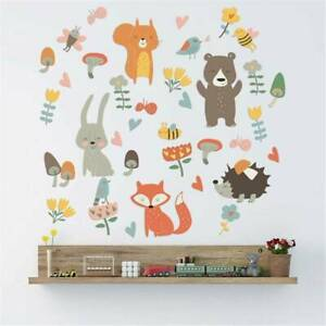Removable Zoo Animal Wall Sticker Vinyl Nursery Room Decal Baby Room Home Decors