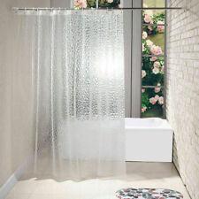 Bathroom EVA Shower Curtain 3D Translucent Thick Waterproof Mildew Partition New