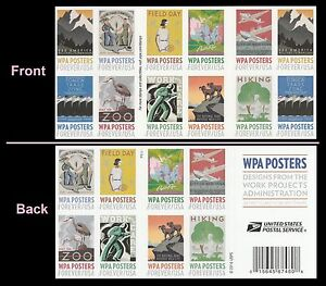 US 5189b WPA Posters forever booklet (20 stamps) MNH 2017