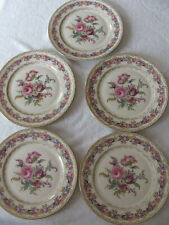 Rosenthal Vienna Ivory - Flowers Gold- Set of 5 Luncheon Plates