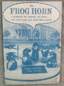 1960 Student Handbook w Map The Frog Horn TCU Fort Worth Texas Christian