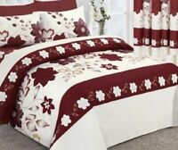 6' SUPER KING SIZE (Hotel Quality) DUVET COVER + 2 PILLOW CASES (CRANBERRY RED)