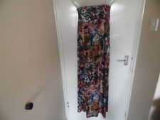 Ladies multi coloured animal print strapless Maxi dress size L