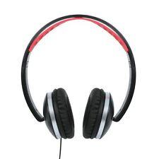 Plegable Sobre Auriculares 3.5mm en Línea Remoto & Micrófono Negro
