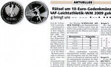 Deutschland / Eurowährung 10 Euro Leichtathletik 2009 Münzzeichen D prägefrisch