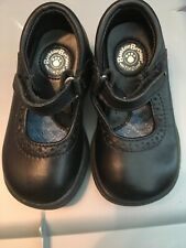 Buster Brown Toe Zone Toddler Girls Mary Jane Shoes 5 M Leather Black Euc