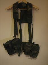 BRITISH ARMY WEBBING & 2 X 2 DOUBLE POUCHES 1994 / 32A / 6324 / 8465-99-132-1560