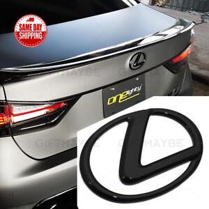 For Lexus Trunk Logo Badge Emblem Car Exterior Replace Gloss Black F-Sport IS GS