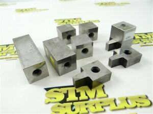 """9PC LOT OF WEBBER PRECISION SQUARE GAGE BLOCKS .500"""" TO 3"""""""
