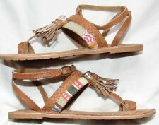 Womens Leather COCONUTS By MATISSE Summer Ankle Wrap Toe Sandals Shoes Sz 7