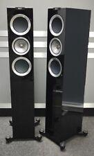 KEF R500 Floorstanding Speakers in Piano Black - Ex Display