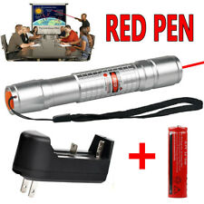 20 Miles 650nm 18650 Red Laser Pointer Pen Visible Beam Light Lazer +Charger