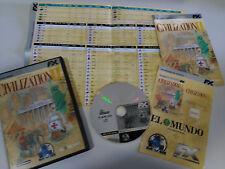 CIVILISATION II JEU DE POUR PC + MAPA CD-ROM ESPAGNOL VERSION MULTIJOUEUR