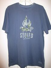 """Life is Good """"Stoked"""" Campfire Short Sleeve Tee~Medium (Classic Fit)~NWT"""