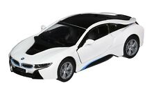 Kinsmart 1:36 Scale Bmw i8 2 Doors Coupe Diecast Toy Car Pull back and Go WHITE