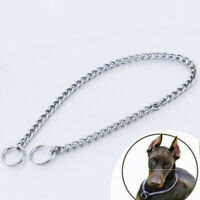 Pet Dog Choke Chain Choker Collar Strong Silver Stainless Steel Training Tool