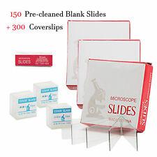 Swift Optical 150pcs Pre Cleaned Lab Blank Glass Microscope Slides Amp300pcs Cover