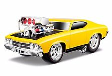 MAISTO 1:24 DISPLAY MUSCLE MACHINES 1969 CHEVROLET CHEVELLE SS Diecast Car