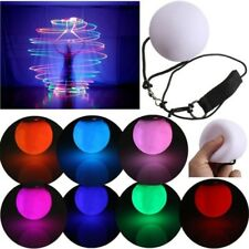 LED Shine Glow POI Thrown Balls Light up Belly Dance Hand Props