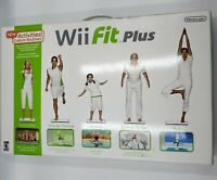 New Open Box Wii Fit Plus with Balance Board Bundle (Nintendo Wii) Fitness Game