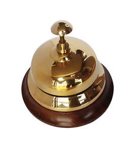Brass Service Bell Reception Hotel Desk School Shop Trade Counter Polished Brass