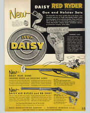 1954 PAPER AD Daisy Red Ryder Gun & Holster Sets Play Rifles