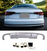Für Audi A4 B9 8W Rs4 S4 Look Diffuser Stoßstange Wabengrill Auspuff blenden